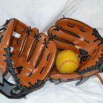 A11138 Honkbalhandschoenen met ballen
