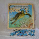 L21190 Lagenpuzzel schildpad, 86 stukjes, hout (Rolf)