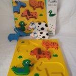 L21258 Houten puzzel 5 dieren