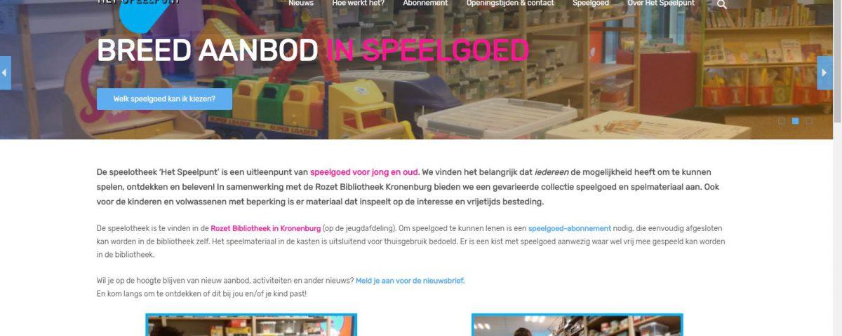 nieuwe website speelpunt